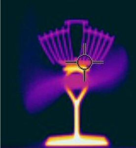Thermal image of a heat-powered Ecofan 812 Airmax