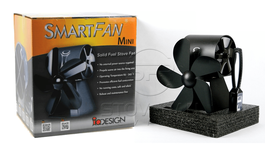 SmartFan Mini stove fan packaging