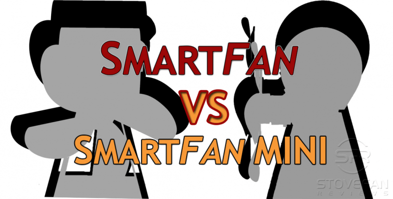 All dimensions of the Smartfan and the SmartFan Mini compared.