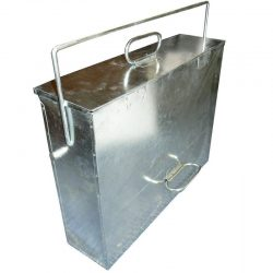 A Galvanised Hot and Cold Ash carrier