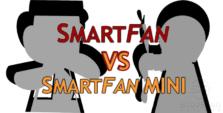 All dimensions of the Smartfan and the SmartFan Mini compared.